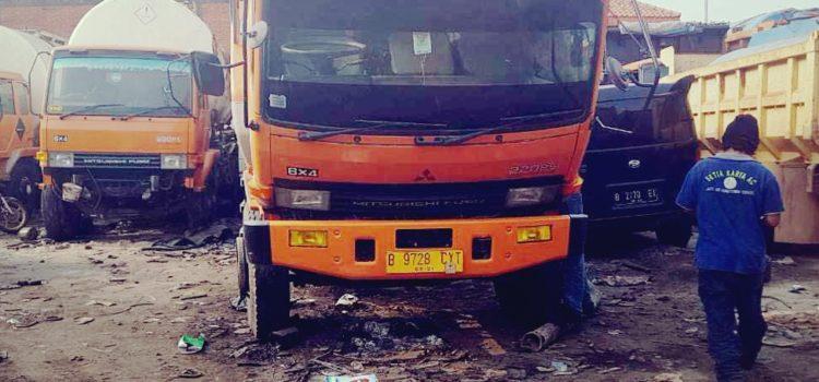 Pemasangan AC utk truck Hino, truck Mercy dan alat2 berat lainnya