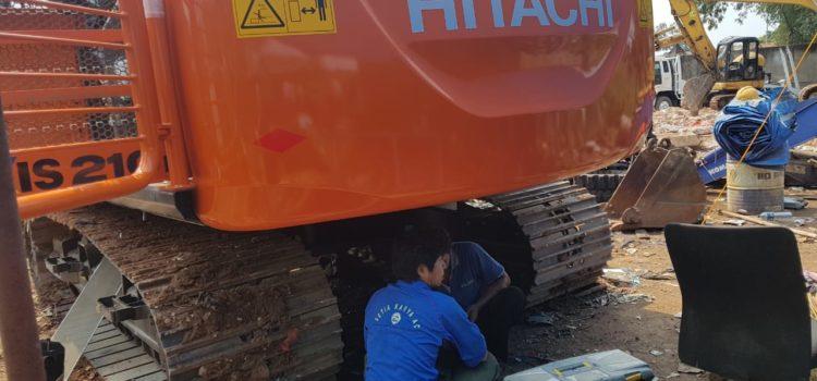 Pasang Ac Excavator Hitachi Zaxis 210