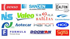 Denso Sanden Valeo NIS Bailian Doowon Aotecar Formula Hanon HCC Kalton
