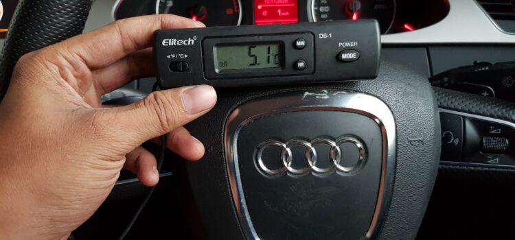 Suhu AC Mobil Audi A4 Bengkel Jakarta Barat Setia Karya AC